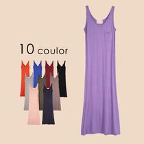 2件包邮 波西米亚吊带长裙春夏天新款欧美连衣裙莫代尔背心长裙女 价格:26.00
