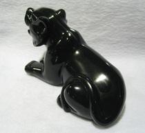2013蛇年开光天然水晶 天然黑曜石雕刻十二生肖虎摆件 虎虎声威 价格:368.00