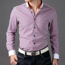 可可西 时尚休闲 韩版修身男纯棉长袖衬衫 男士衬衣 C302 价格:138.27