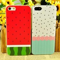 简彩皮纹 夏天西瓜波点 蕾丝波点 iphone5苹果5手机壳套 保护壳 价格:17.00