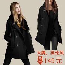 秋装新款2013欧美英伦风呢子大衣胖妹妹大码女装休闲时尚毛呢外套 价格:145.00