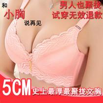文胸聚拢厚 小胸平胸胸罩 加厚聚拢收副乳调整型超厚特厚文胸内衣 价格:36.80