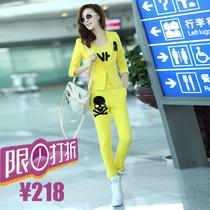 小西装 女2013秋冬韩版休闲运动骷髅头三件套装 欧美OL显瘦外套女 价格:218.00