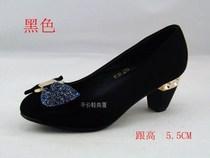 2013新款爆款金利鸟正品女鞋马蹄跟水钻花朵亮片拼色流行女鞋 价格:88.00