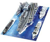 包邮 经纶3d纸模型立体拼图益智创意玩具 军舰队 美国航母战斗群 价格:168.00