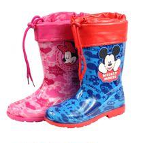 正品迪士尼儿童棉雨鞋雨靴时尚水鞋男女童水晶雨鞋内胆可脱卸 价格:59.00