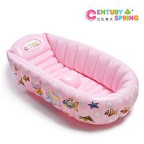 世纪春天正品婴幼儿充气浴盆宝宝大号洗澡沐浴盆坐卧两用环保防寒 价格:88.00