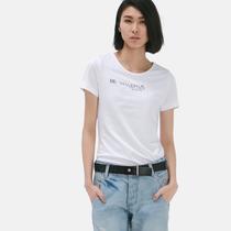 AMII2013夏新款纯色简约字母印花修身棉短袖T女11300175 价格:119.00