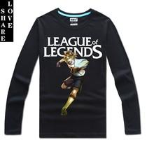 英雄联盟游戏T恤LOL长袖纯棉圆领T恤伊泽瑞尔 EZ 足球小将皮肤 价格:49.00