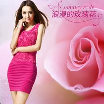 2013女装新款夏季 紧身无袖背心裙 气质mm修身包臀连衣裙 价格:69.00
