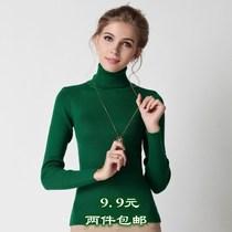 2013秋冬新款女装套头羊毛衫毛衣高领韩版修身加厚针织打底衫上衣 价格:9.90