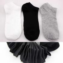 清仓袜子批发 隐形船袜 男短袜纯棉袜子 秋冬长款纯白灰黑色男袜 价格:0.85