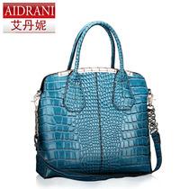 艾丹妮 鳄鱼纹女包 2013新款包 特价手提单肩包 欧美牛皮女包包邮 价格:259.00