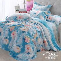 水星家纺天丝系列 贡缎莫代尔四件套 威尼斯恋人  春夏新品套件 价格:780.00