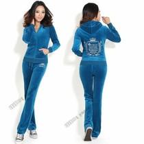 美国正品代购Juicy Couture天鹅绒运动套装女 2013JC橘滋长袖刺绣 价格:498.00
