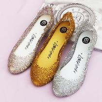 水晶凉鞋果冻鞋鱼嘴 女平跟镂空女鞋梅丽莎melissa网状鸟巢洞洞鞋 价格:35.00