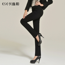 逸阳女裤2013秋新款 OL大码裤子中腰休闲长裤 直筒裤 女 显瘦0383 价格:119.00