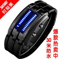 正品手表男 钨钢男表 复古表 韩版LED电子表 潮男手表 防水时装表 价格:75.00