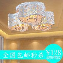 佳信羊皮水晶灯田园现代时尚吊灯餐厅灯客厅卧室灯具灯饰特价包邮 价格:128.04