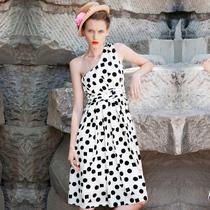 两三事品牌 我的女孩 2013新款女装夏装时尚性感单肩连衣裙 价格:130.20
