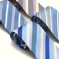 蓝色斜纹 领带 多色选大牌原单真丝9-10CM宽正装 男士商务领带 价格:68.00