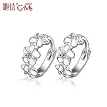 925纯银耳环女韩国时尚小耳圈纯银耳扣女韩版 正品时尚气质花朵 价格:65.90