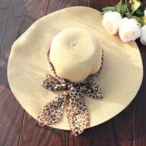 加厚 送飘带韩国大沿帽遮阳太阳帽子沙滩帽大檐帽 巴拿马 大草帽 价格:29.00