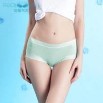 润微 云梦闲情 5色5条装兰精木代尔纯色性感女士蕾丝三角内裤 价格:69.00