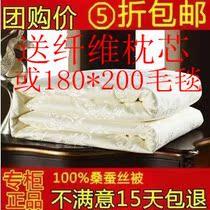 水星家纺蚕丝被100桑蚕丝被子夏被子母被春秋被芯厚冬被特包邮 价格:108.00