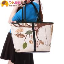小象包袋 2013新款欧美大牌复古撞色树叶手提单肩女包包潮X1432 价格:69.90