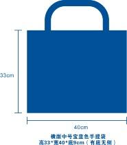 环保袋无纺布袋手提袋冲孔袋中号横版手提袋宝蓝色六五世界环境日 价格:0.40