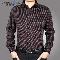 浪比鲨 2013秋冬新款男士加绒加厚长袖衬衫保暖衬衣纯棉衬衣男款 价格:179.00
