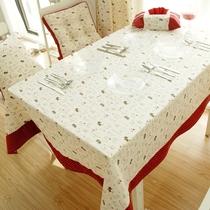 艾咪zakka棉麻餐桌布 时尚长方形台布田园布艺茶几桌布定做特价 价格:28.80