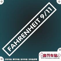 欧德斯派汽车摩托车反光个性车贴纸911恐怖袭击记念3793 价格:7.00