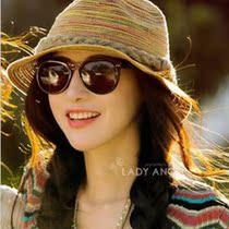 新款草编爵士帽 时尚巴拿马草帽 沙滩遮阳 可折叠防紫外线草帽 价格:26.00