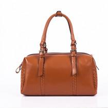 新款牛皮欧美复古手提时尚波士顿枕头包女式包牛皮 菱格 女包 价格:279.30