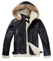 特价b3皮毛一体皮衣男羊羔绒北欧机车皮衣外套 男式真皮加厚皮衣 价格:338.00