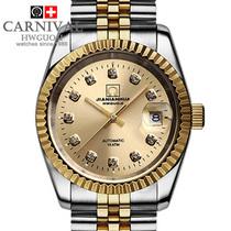 中秋送礼 正品瑞士嘉年华手表 王者风范 全自动机械表夜光男表 价格:399.00