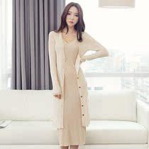 2013韩版新款外套修身女装优雅气质外搭中长款纯棉针织衫开衫包邮 价格:198.00