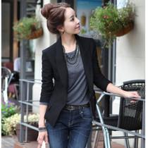 歌莉娅2013秋韩版新款修身一粒扣女式小西服休闲外套 价格:99.00
