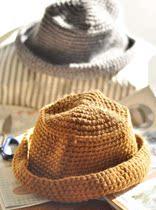 韩国百搭 潮 秋冬网格卷边贝雷帽 爵士帽 渔夫帽 针织毛线帽子 价格:24.50