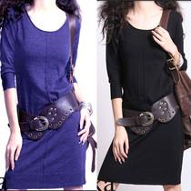 阿卡新款纯羊绒衫女式长款圆领连衣裙打底针织衫显瘦毛衣清仓特价 价格:132.30