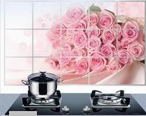 韩国高档可选厨房防油烟贴纸 小号易清洁耐高温磁砖铝箔贴5张包邮 价格:2.90