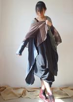 例外布衣风格安木图秋季新款百搭柔软棉麻搭配渐变色棉麻围巾披肩 价格:55.00