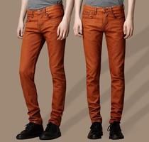 BURBERRY男式 直筒修身牛仔裤 巴宝莉2013夏款桔红色个性牛仔裤 价格:185.00