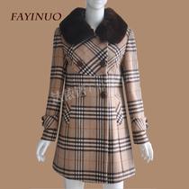 唯影羊绒大衣清仓专柜正品呢大衣秋装韩版修身中长款毛呢外套女 价格:470.00