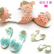 格林公主女童凉鞋珍珠2013夏新款韩版鱼嘴儿童凉鞋女童鞋公主单鞋 价格:39.00