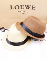 沙滩帽 韩版潮遮阳帽英伦女帽男草帽礼帽爵士帽情侣帽子 价格:23.00