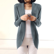 WNYZ 2013新款秋装品牌女装修身中长款女针织衫开衫秋薄开衫外套 价格:68.00