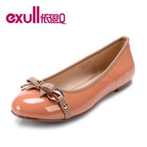 依思q单鞋女2013蝴蝶结果冻圆头舒适休闲低跟平跟平底鞋13170117 价格:159.00